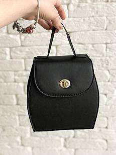 Оригинальная женская сумка нестандартной формы в черном цвете, из искусственной кожи