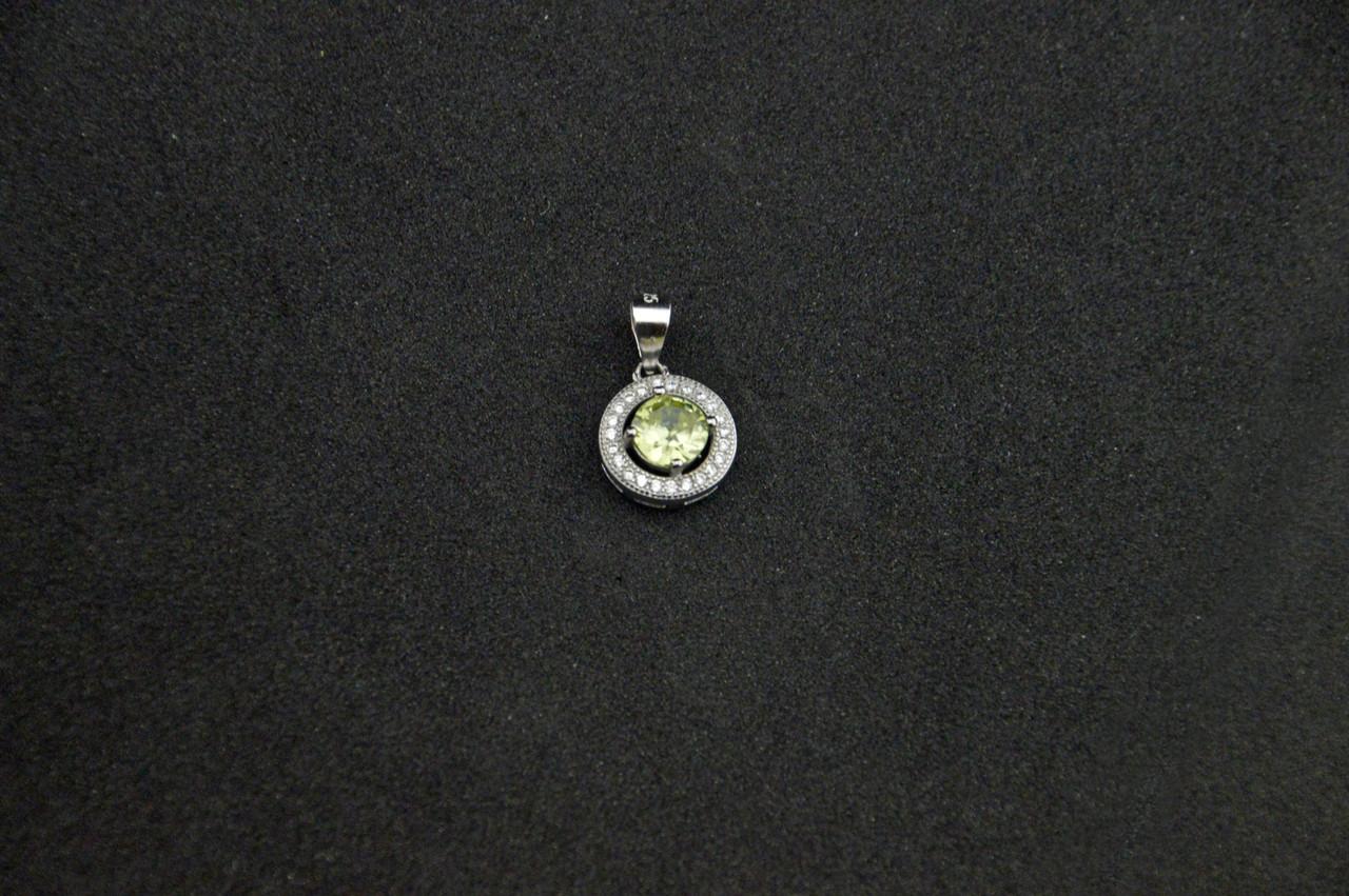 Серебряный кулон с ярким камнем серебро 925 пробы