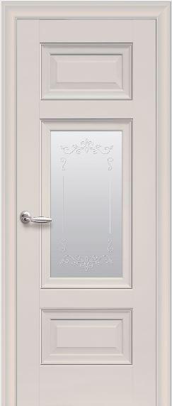 Межкомнатные двери со стеклом сатин Шарм