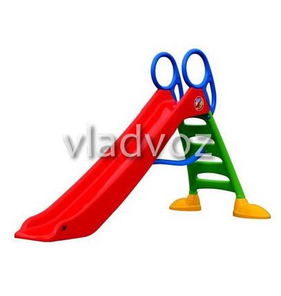 Детская горка игровая пластиковая дитяча гірка для дома площадки улицы спуск дачи красная Польша 200 см., фото 2