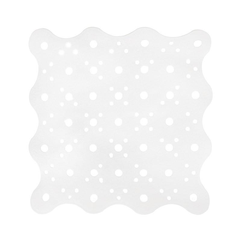 Коврик для ванной антискользящий квадратный белый AWD02091484