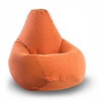 Оранжевое кресло-мешок груша 120*90 см из микророгожки