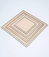 Квадратное донышко для вязанных корзин 20х20 см