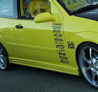 Накладки на пороги для Chevrolet (Модель №6), Шевроле, фото 1