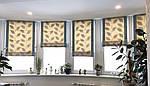 Римская штора на окно, с карнизом и тканью