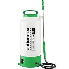 Обприскувач акумуляторний GRUNHELM GHS-10, 2АН/12V, робочий тиск 2-4Bar, об'єм 10л, вага 6,5 кг