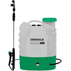 Обприскувач акумуляторний GRUNHELM GHS-16M, 8АН/12V, робочий тиск 3Bar, обсяг 16л, вага 5,5 кг