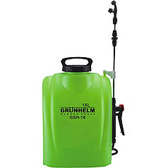 Опрыскиватель аккумуляторный GRUNHELM GHS-16, 8АН/12V, рабочее давление 3Bar, объем 16л, вес 5,5кг