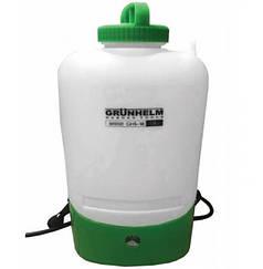 Обприскувач акумуляторний GRUNHELM GHS-18, 8АН/12V, робочий тиск 3Bar, обсяг 18л, вага 5,5 кг
