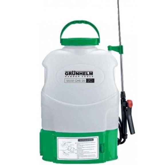 Опрыскиватель аккумуляторный GRUNHELM GHS-20, 8АН/12V, рабочее давление 3Bar, объем 20л, вес 6,5кг
