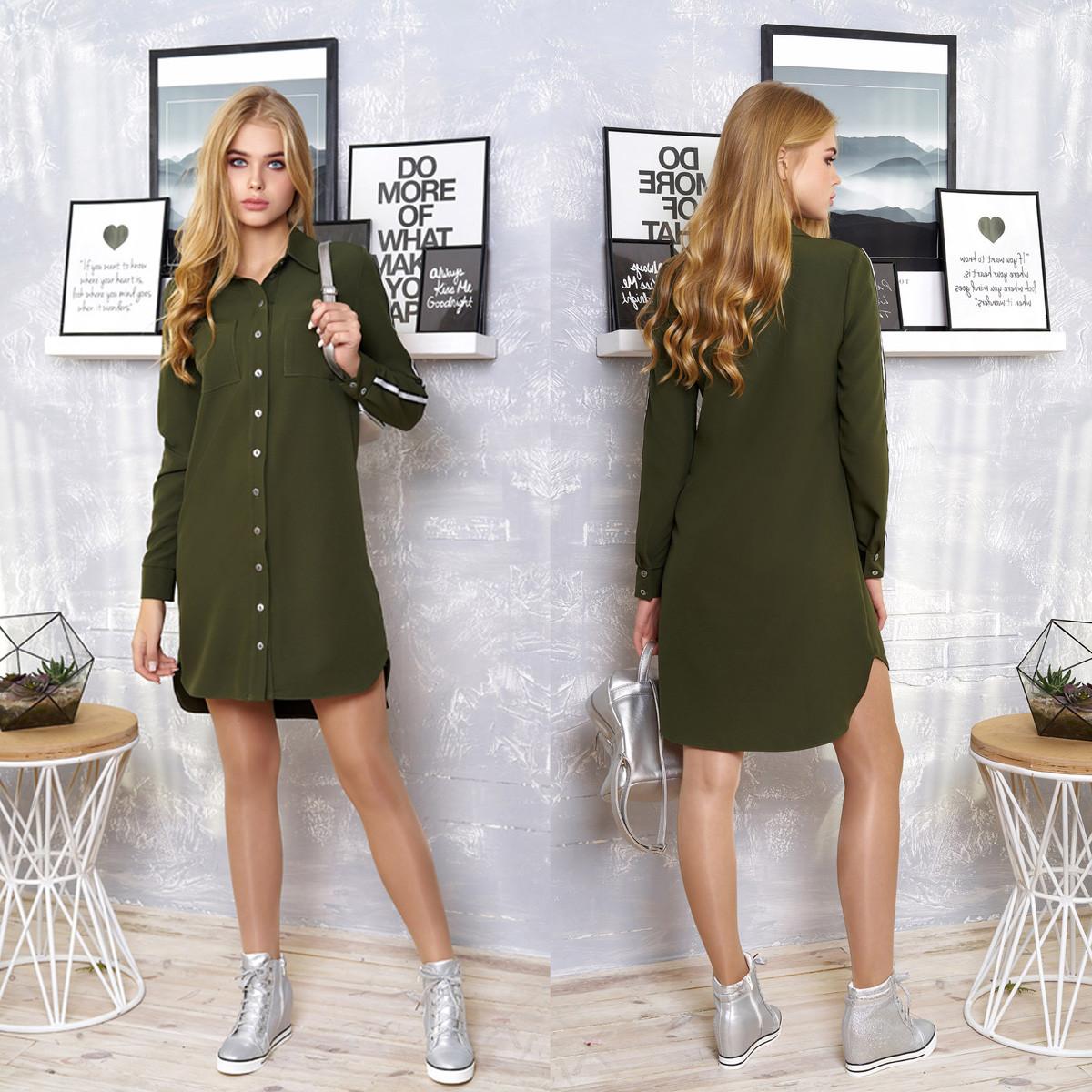 """Модное платье-рубашка демисезон размеры XL, 2XL """"Элина"""""""