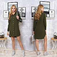 """Модное платье-рубашка демисезон размеры XL, 2XL """"Элина"""", фото 1"""