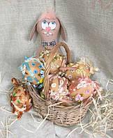 Текстильные шитые яйца