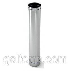 Труба димохідна з нержавіючої сталі ø120 х 1м 0,8мм