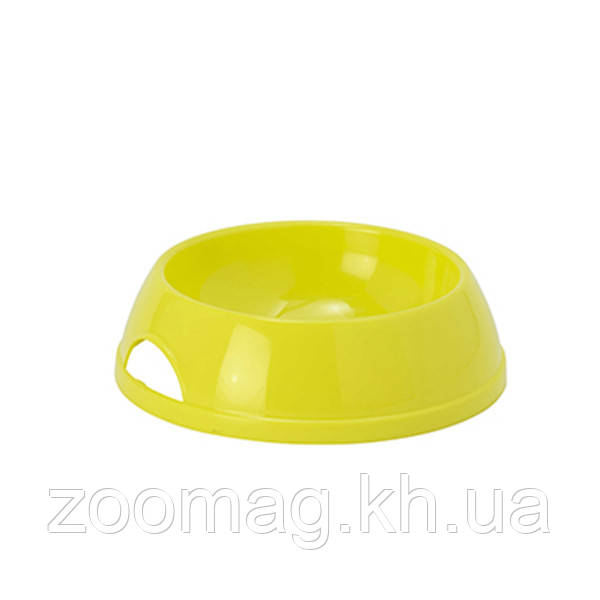 Moderna Eco №1 миска пластиковая для кошек и собак (470 мл, d-14 см) лимонный