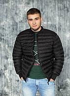 Мужская весенняя куртка, бомбер 48, Черный