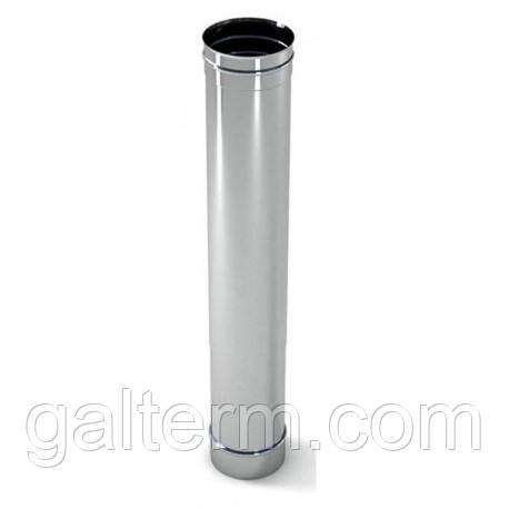 Труба димохідна з нержавіючої сталі ø120 х 1м 0,8мм AISI 321