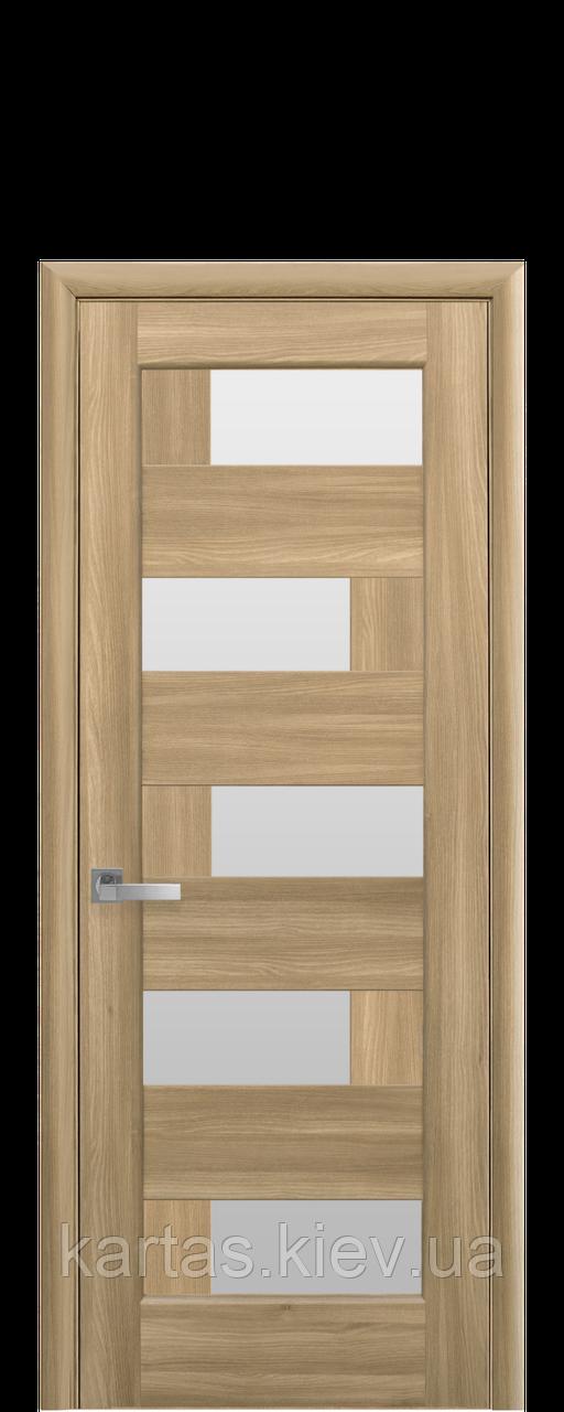 Дверное полотно Пиана Золотой Дуб со стеклом сатин