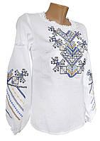 Підліткова вишиванка для дівчинки із пишними рукавами та вишивкою на грудях «Дерево життя»