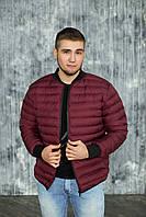 Мужская весенняя куртка, бомбер 46, Бордо