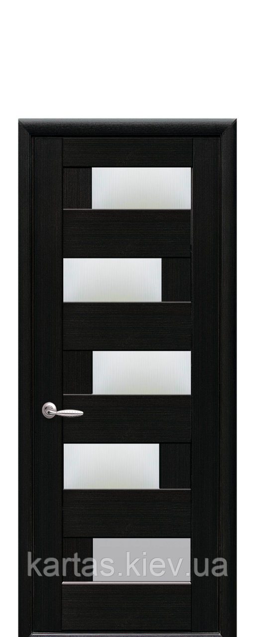 Дверное полотно Пиана Венге New со стеклом сатин