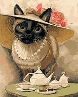Картина по номерам Леди-кошка (AS0391) 40 х 50 см ArtStory