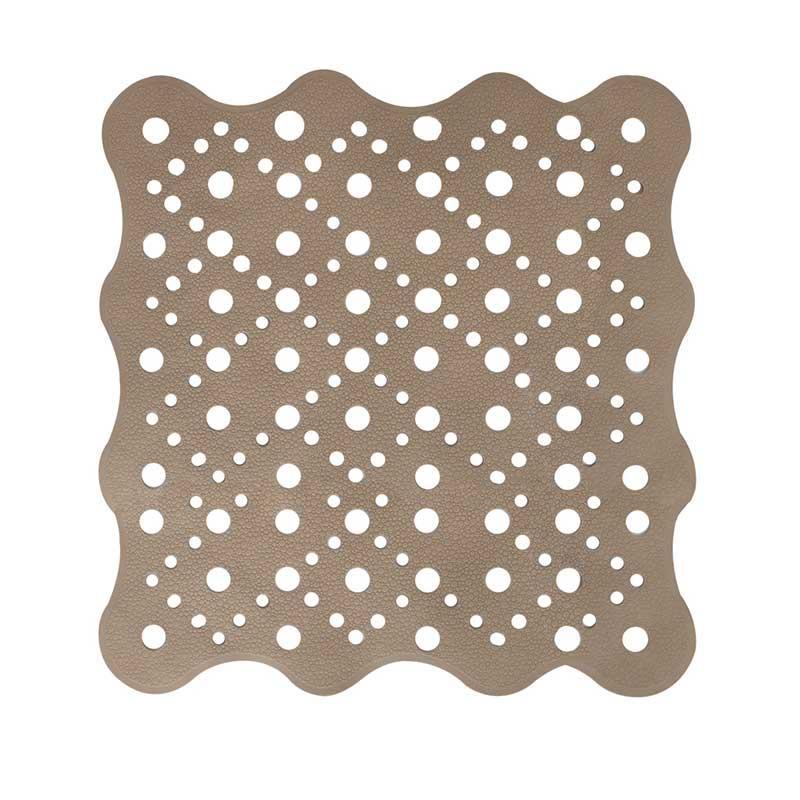 Коврик для ванной антискользящий квадратный коричневой AWD02091486