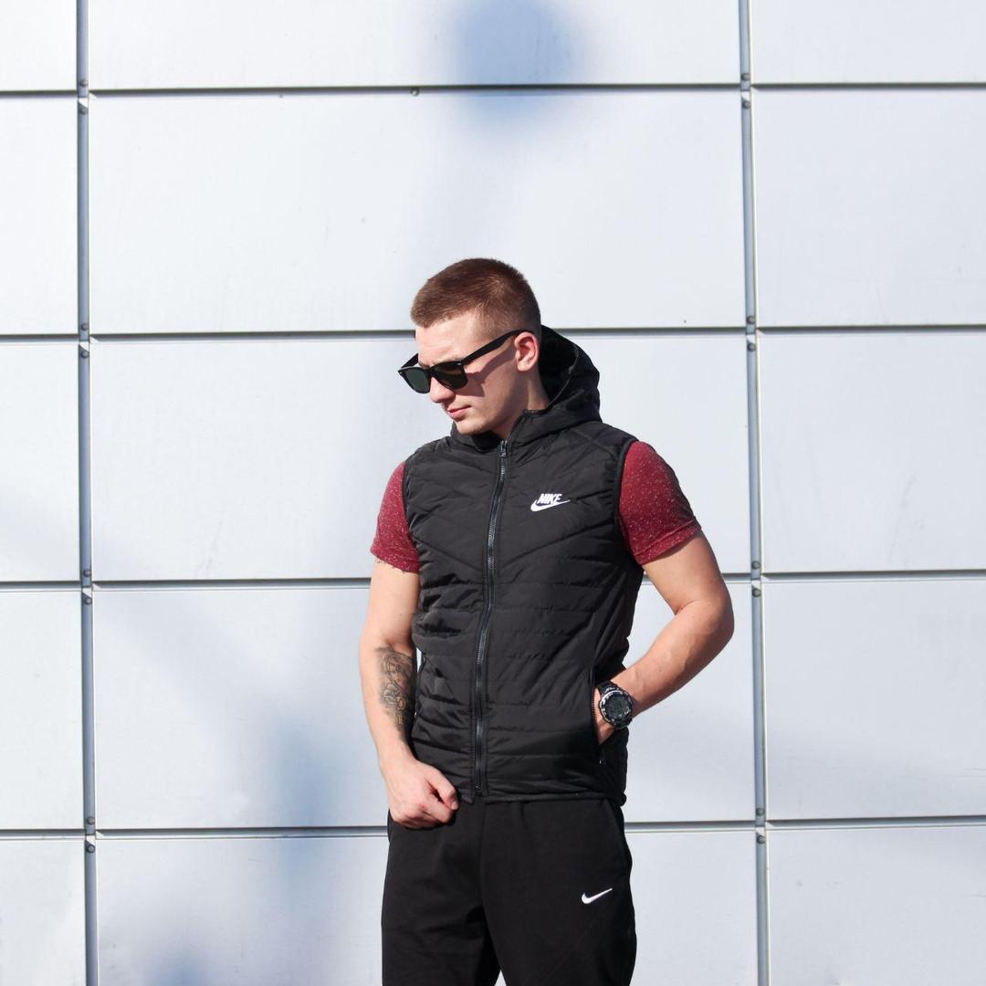 Жилетка мужская Nike весна\осень (черный)