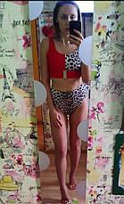 Купальник раздельный леопардовый с высокими трусиками , фото 2