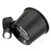 Часовая глазная лупа 10х кратная LED-подсветка