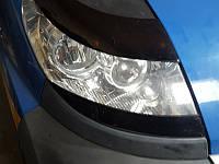 Накладки на фары Peugeot Boxer (Нижние) 2006+, Реснички Пежо Боксер, фото 1