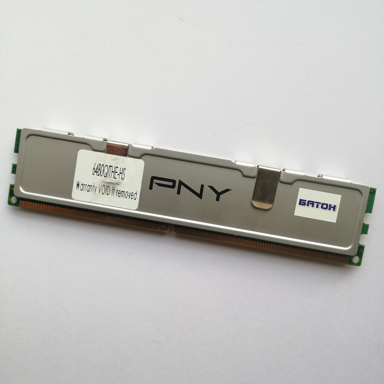 Игровая оперативная память PNY DDR2 2Gb 800MHz PC2 6400U CL6 (64B0QITHE-HS) Б/У