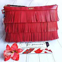 Клатч від Victoria's Secret червоного кольору з бахромою