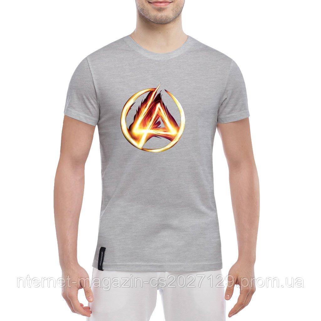 Стильная мужская футболка с печатью принта Linkin Park