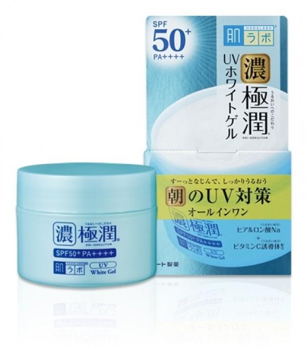 Солнцезащитный гиалуроновый крем-гель для лица HADA LABO Koi-Gokujyun UV White Gel SPF50+ PA++++ 90g