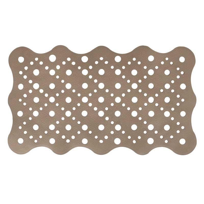 Коврик для ванной антискользящий прямоугольный коричневой AWD02091487