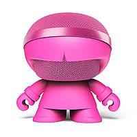 Акуст. стереосистема XOOPAR - XBOY GLOW(12cm,роз.,Bluetooth, MP3/SD-карт, микроф.,аудио&USB-каб., LED)