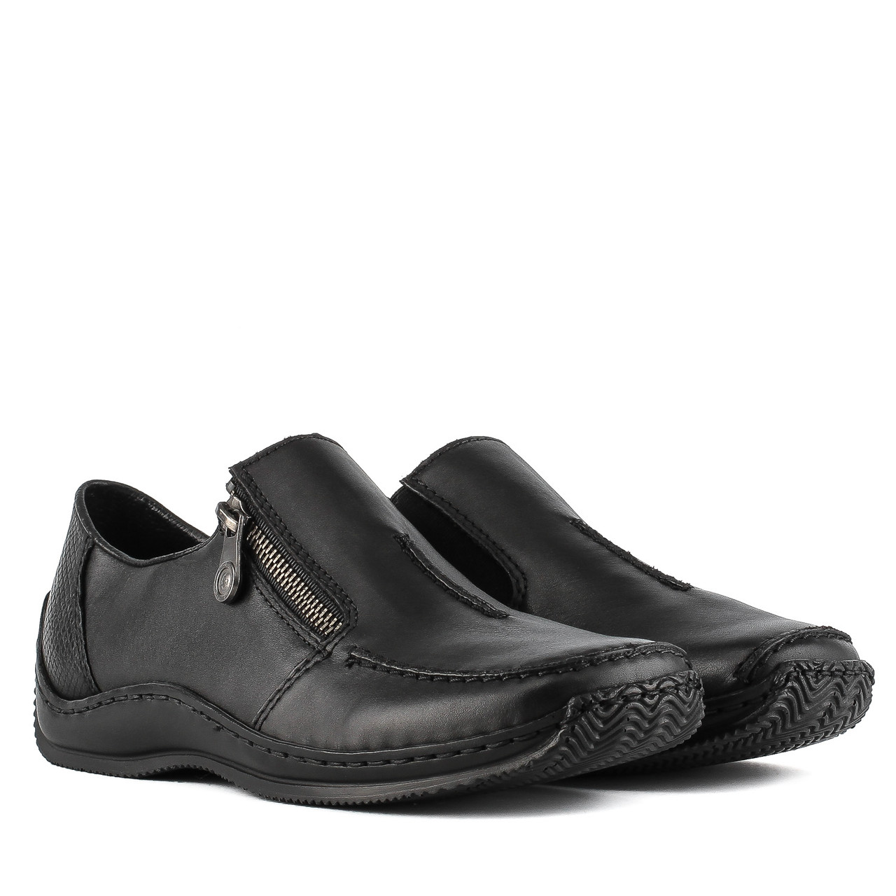 9bcecc976 Купить Туфли женские RIEKER (чёрные, на низком ходу, удобные ...