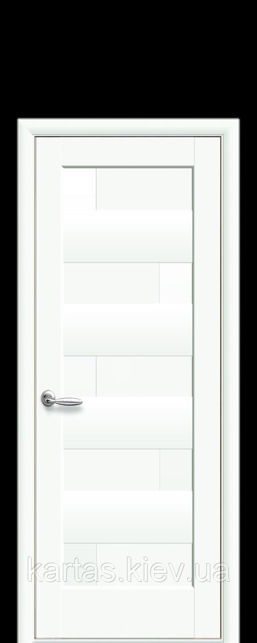 Дверное полотно Пиана Белый Матовый глухое