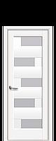 Дверное полотно Пиана Белый Матовый со стеклом сатин