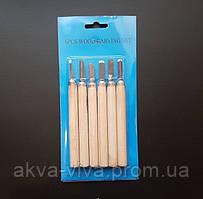 Набор инструментов для резьбы по дереву. 6 штук