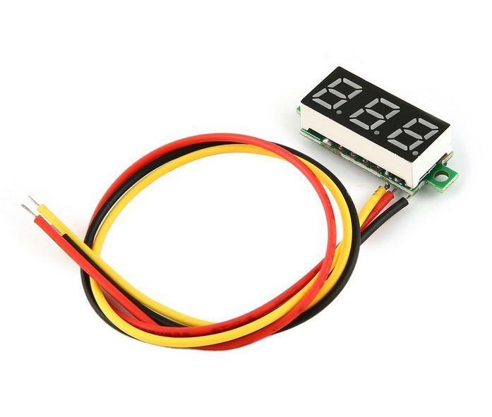 """Цифровой вольтметр DC 0-100V 0.28"""", зеленый"""