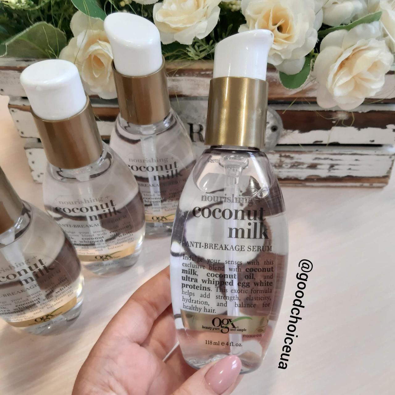 Защитная сыворотка для волос с кокосовым маслом OGX Coconut Anti Breakage Serum