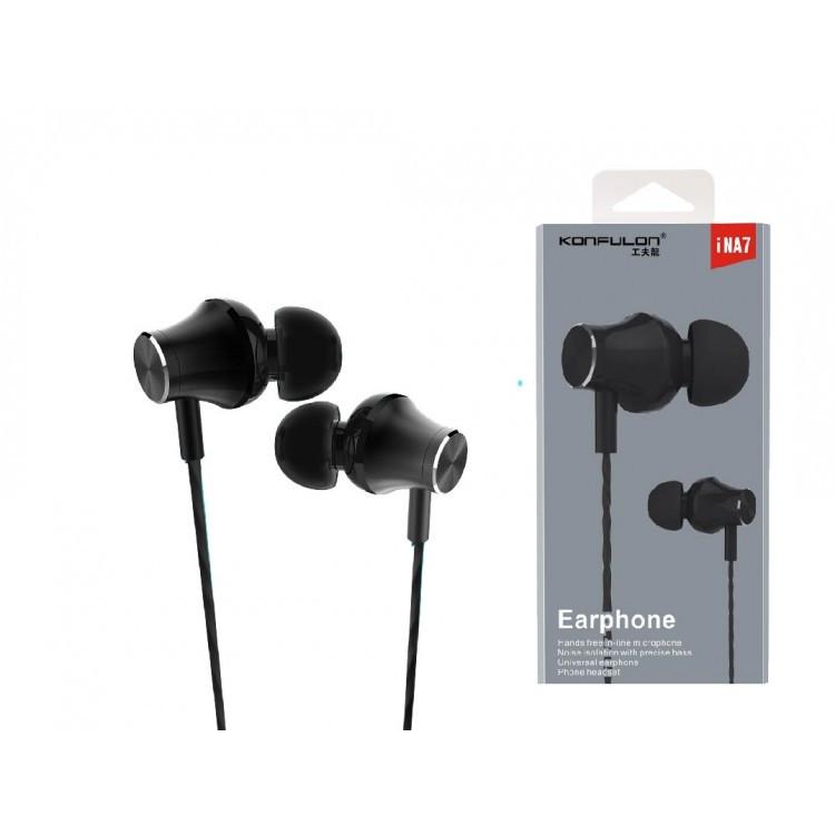 Навушники з мікрофоном Konfulon iNA7 (Черный)