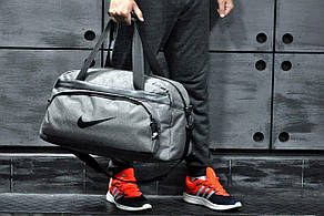 Спортивная - дорожная сумка Nike  Светло-серый