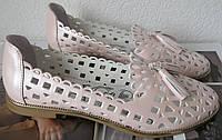Versace ! Стильные женские летние кожаные балетки туфли натуральная кожа цвет пудра., фото 1