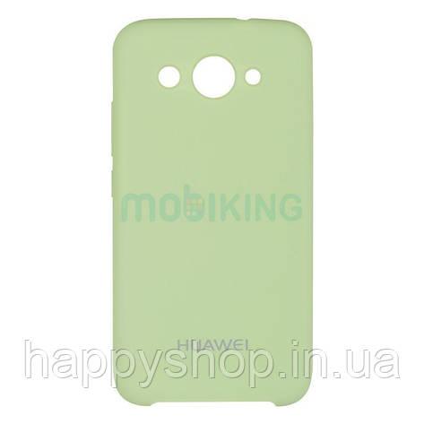 Оригинальный силиконовый чехол Soft touch для Huawei Y3 2017 (CRO-U00) Light Green, фото 2