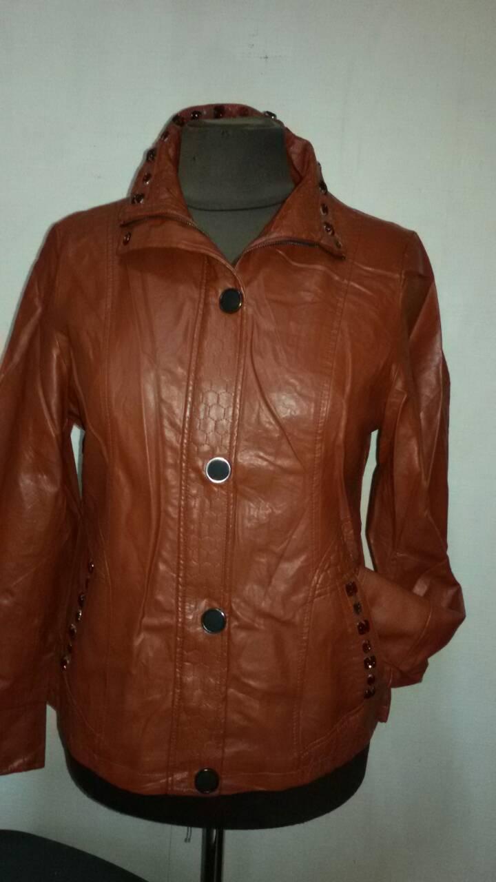 Куртка женская большого размера из экокожи MAX&HT, Турция