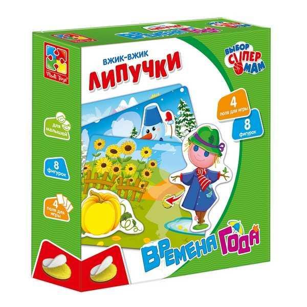 "Игра с липучками ""Времена года"" - VT 1302-19 (14) ""Vladi Toys"", (Украина)"