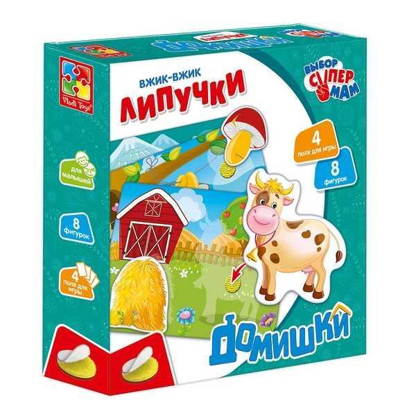 """Игра с липучками """"Домишки"""" - VT 1302-20 (14) """"Vladi Toys"""", (Украина)"""